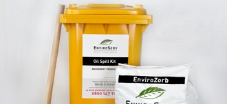Spill containment with EnviroServ's absorbent product range