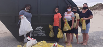 EnviroServ staff take environmental action for World Clean-Up Day